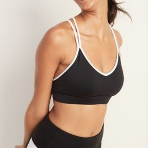 NWT Old Navy Black Cross Back Sports Bra - Size XS